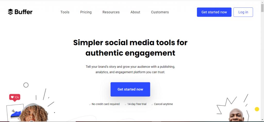 Buffer webpage